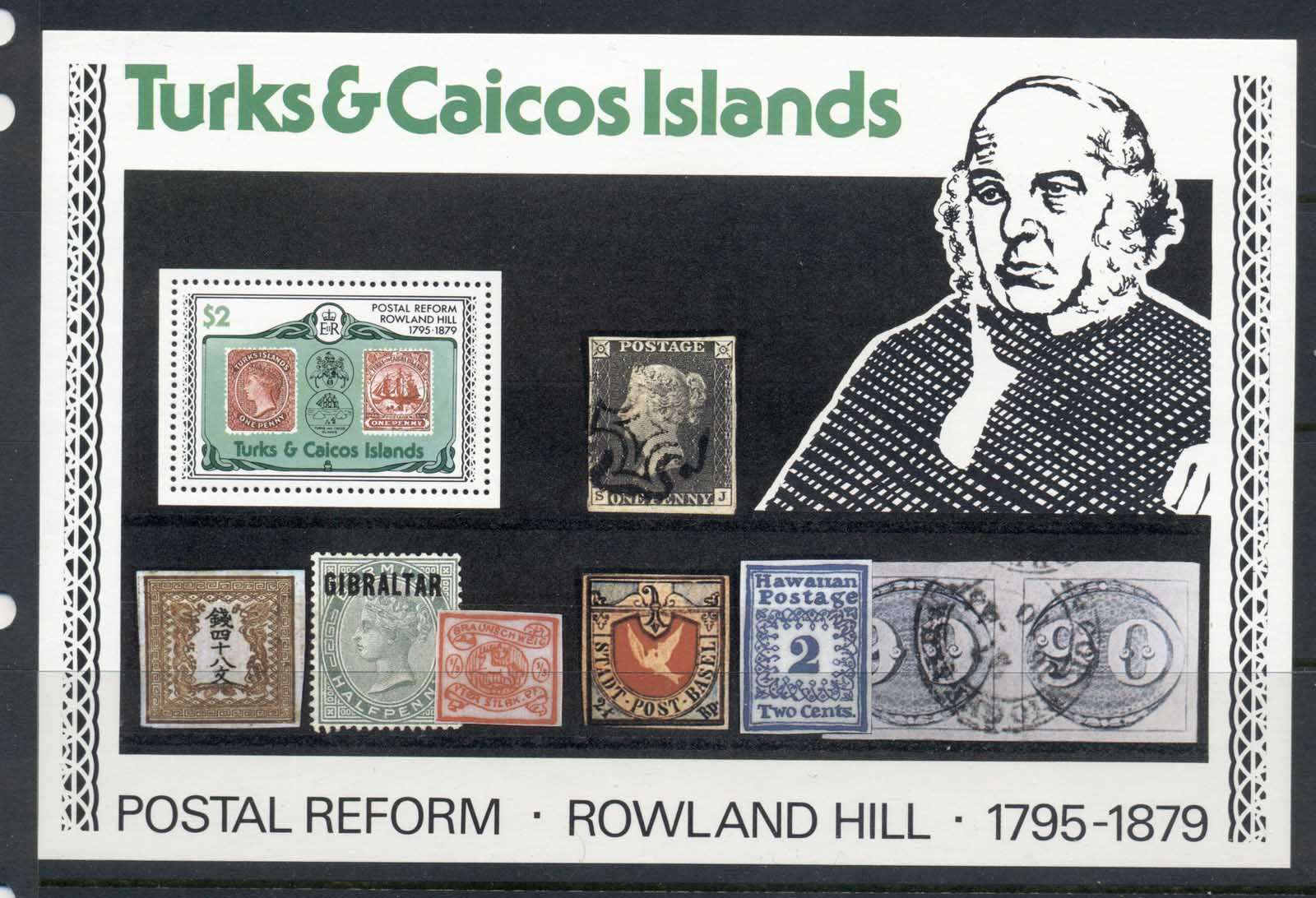 Turks & Caicos Is 1979 Sir Rowland Hill Death Centenary MS MUH