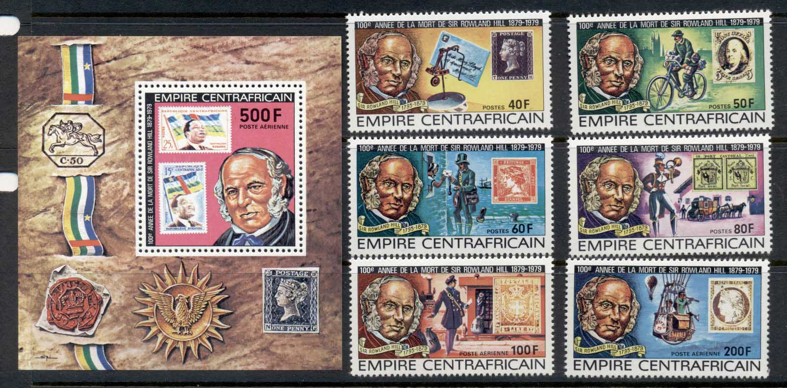 Central African Republic 1979 Sir Rowland Hill Death Centenary + MS MUH