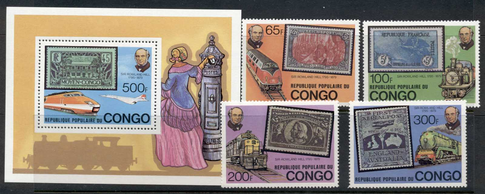 Congo 1979 Sir Rowland Hill Death Centenary + MS MUH