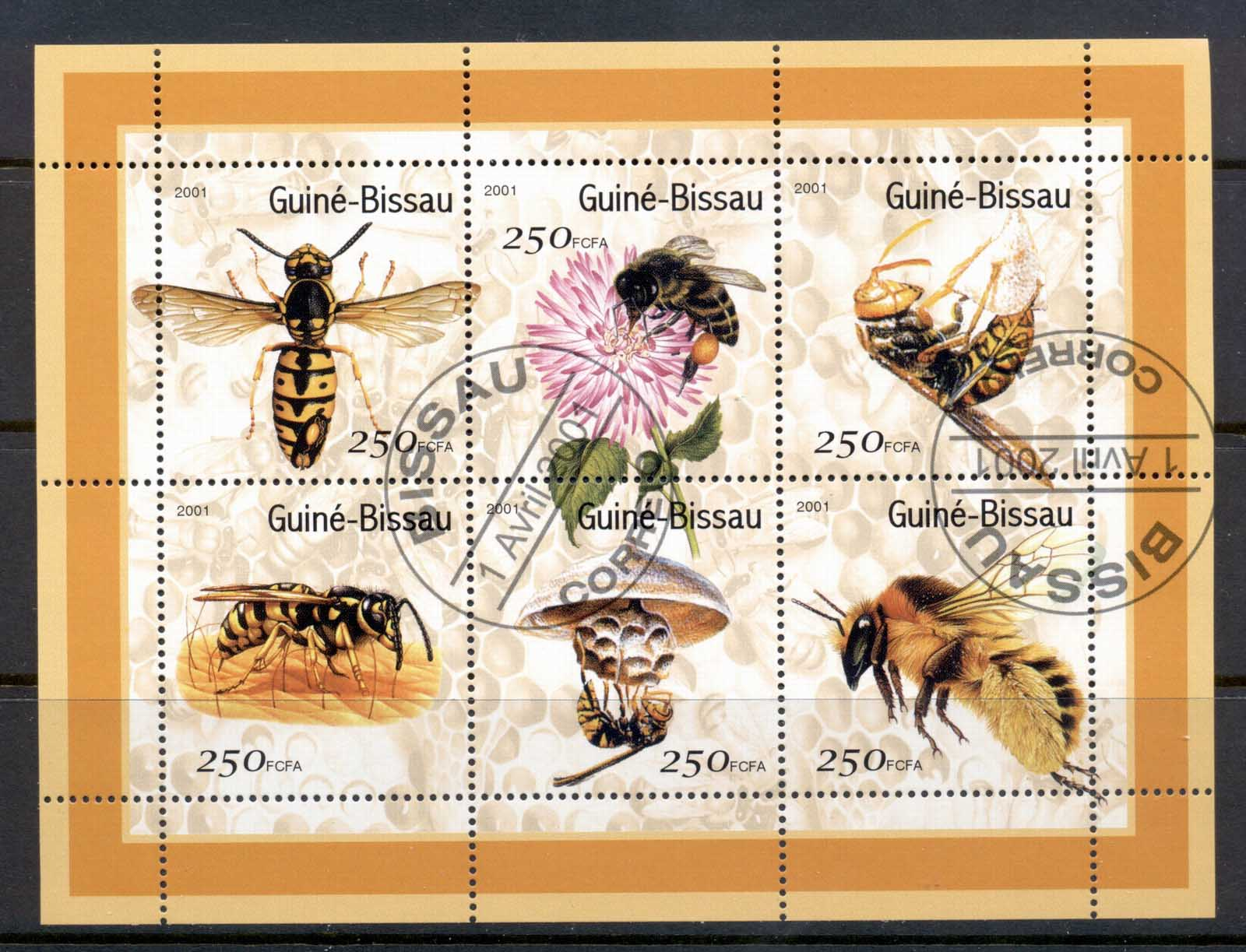 Guinea Bissau 2001 Insects, Bees MS CTO