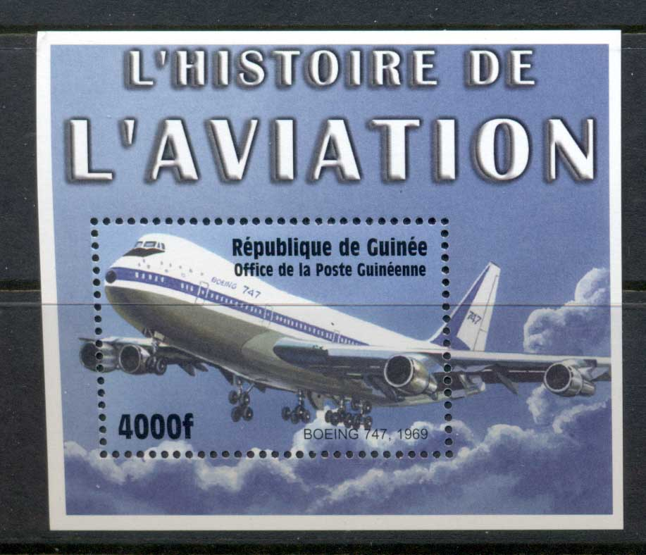 Guinea 2002 History of Aviation Boeing 747 MS MUH