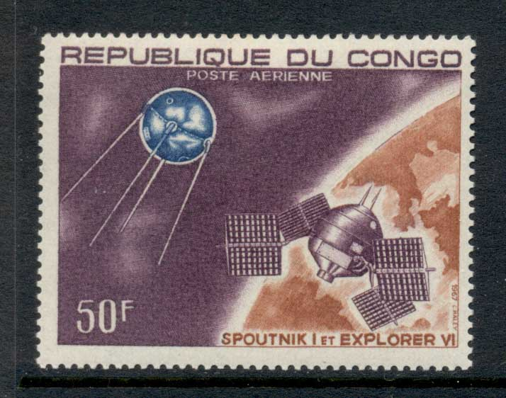 Congo 1967 Spacecraft Sputnik 1 50f MLH