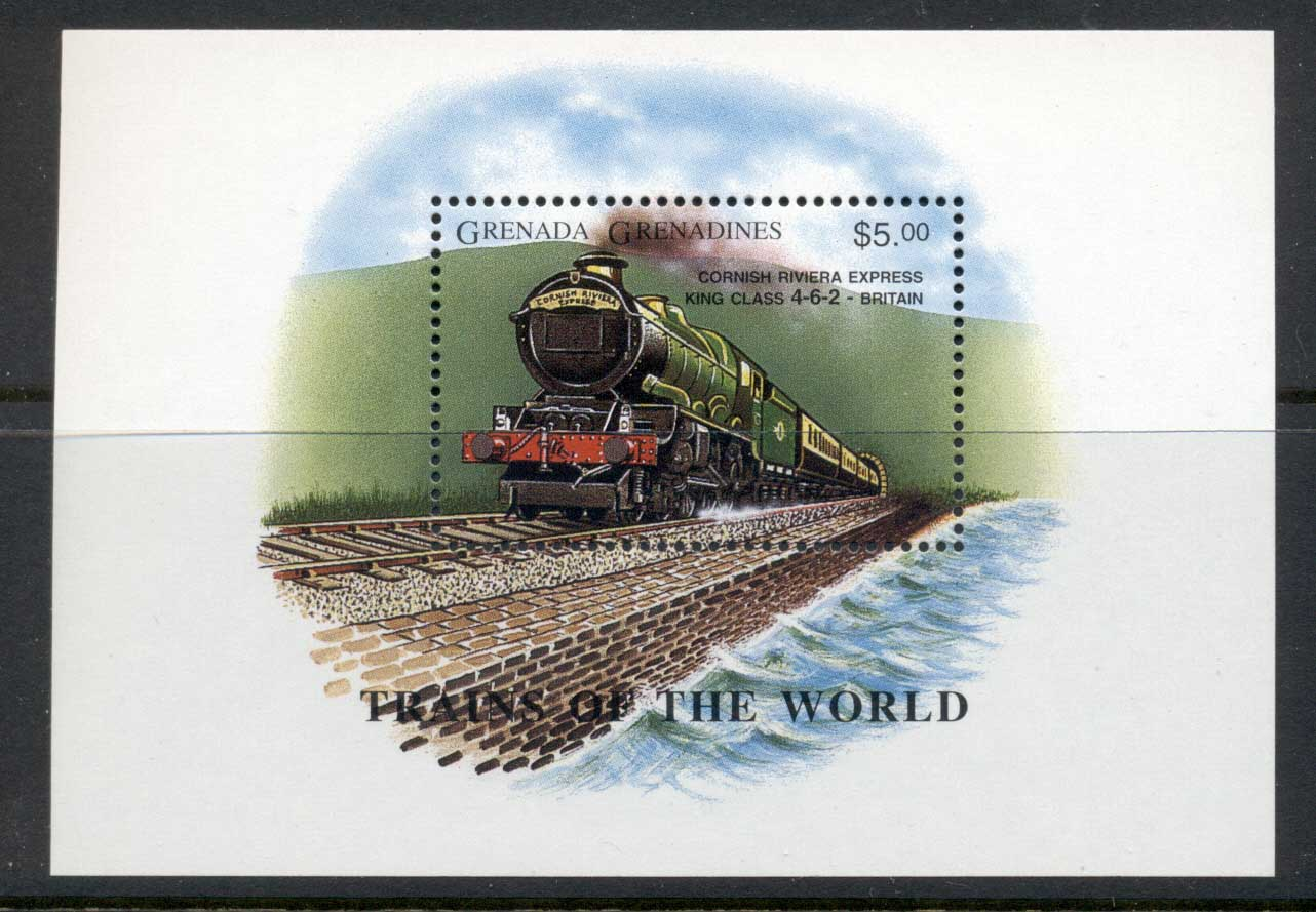 Grenada Grenadines 1996 Trains, Cornish Rivera Express MS MUH