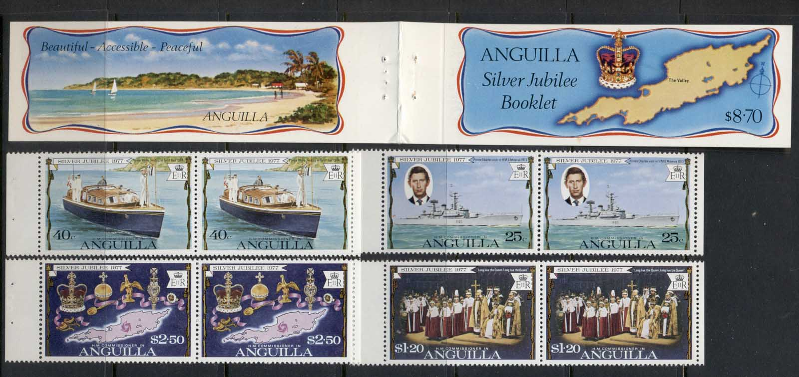 Anguilla 1977 QEII Silver Jubilee exploded booklet MUH