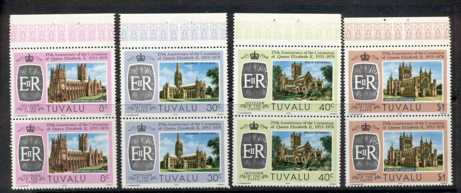 Tuvalu 1978 QEII Coronation 25th Anniv. Booklet panes MUH