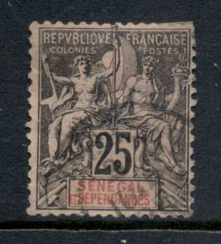 Senegal 1892-1900 Navigation & Commerce 25c (thin) FU