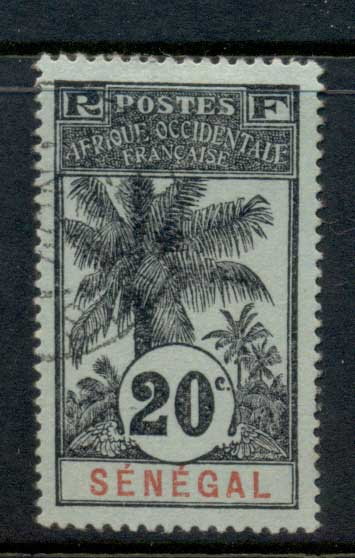 Senegal 1906-07 Oil Palms 20c FU