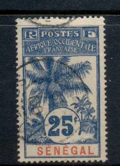 Senegal 1906-07 Oil Palms 25c FU