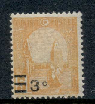 Tuniaia 1928 Surcharge 3c on 5c MLH
