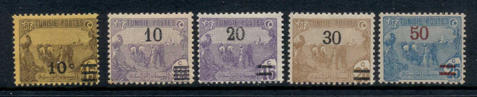 Tunisia 1911-28 Surcharges Asst MLH