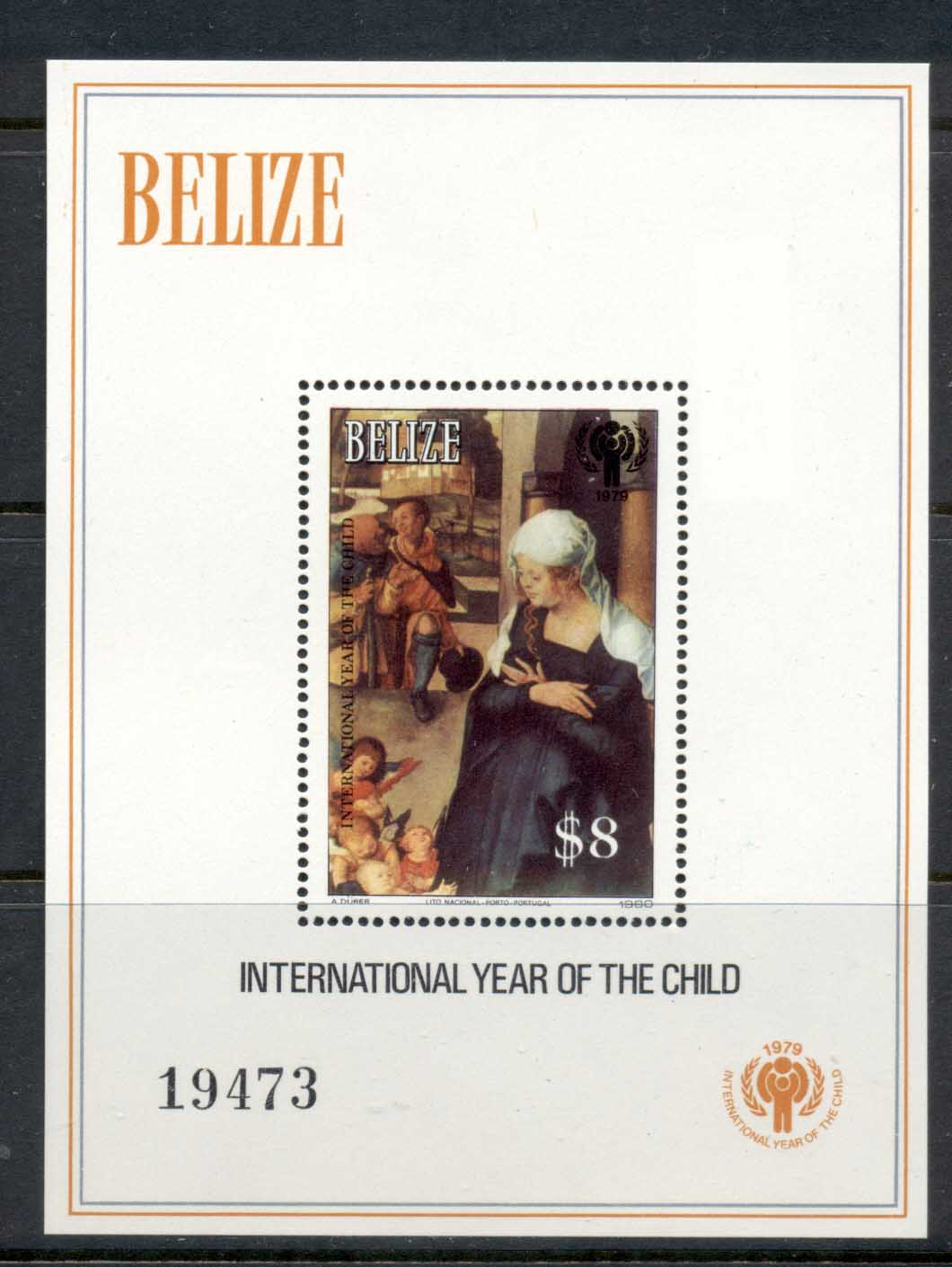 Belize 1980 IYC International year of the Child MS MUH