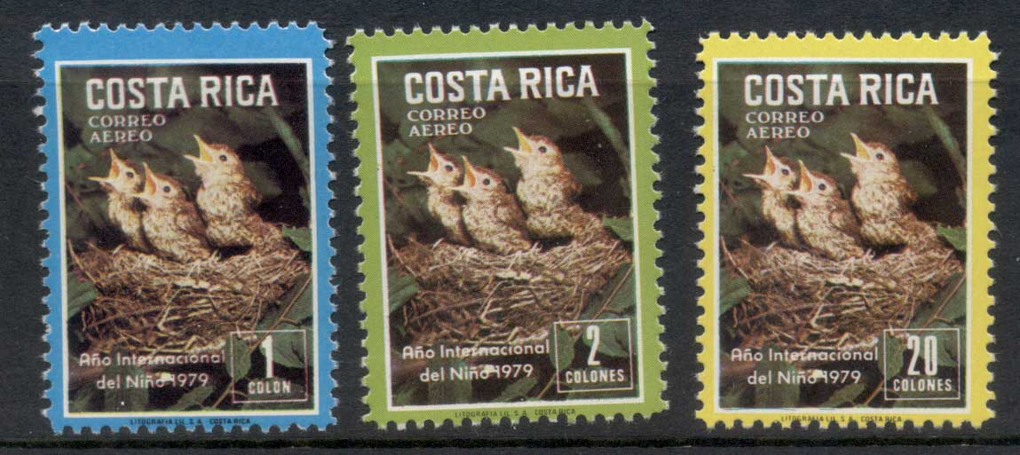 Costa Rica 1979 IYC International year of the Child, Birds MUH