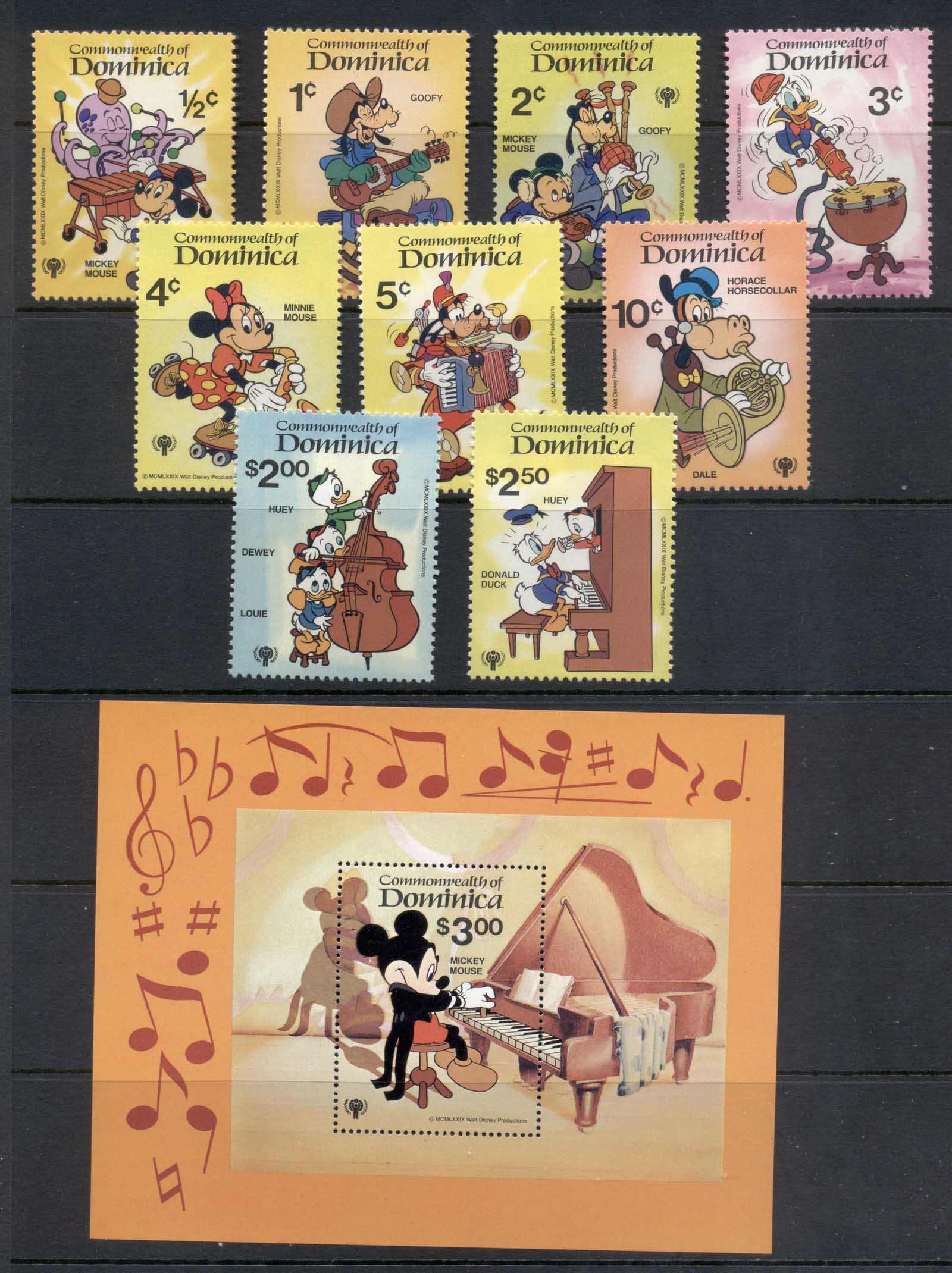 Dominica 1979 IYC International year of the Child, Walt Disney + MS MUH