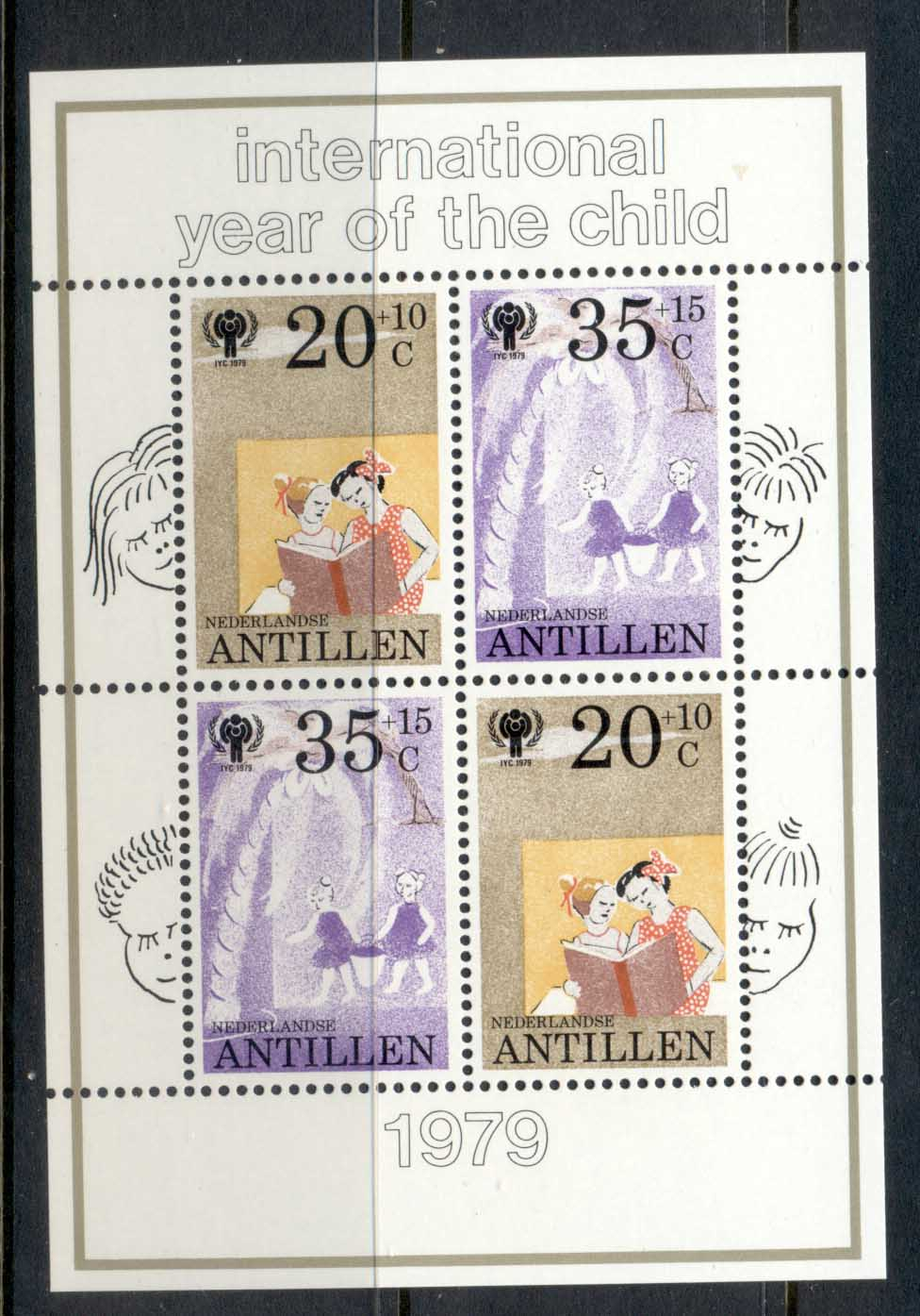 Netherlands Antilles 1979 IYC International year of the Child MS MUH
