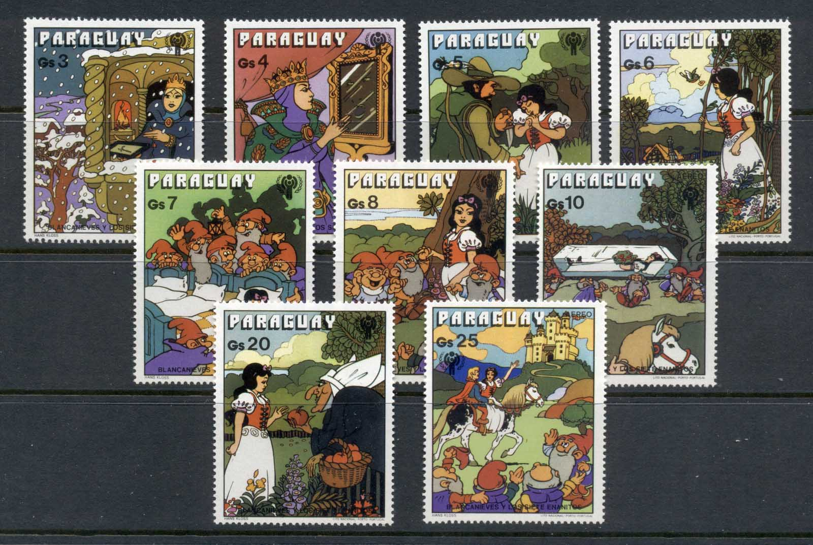 Paraguay 1978 IYC International year of the Child, Snow White MUH