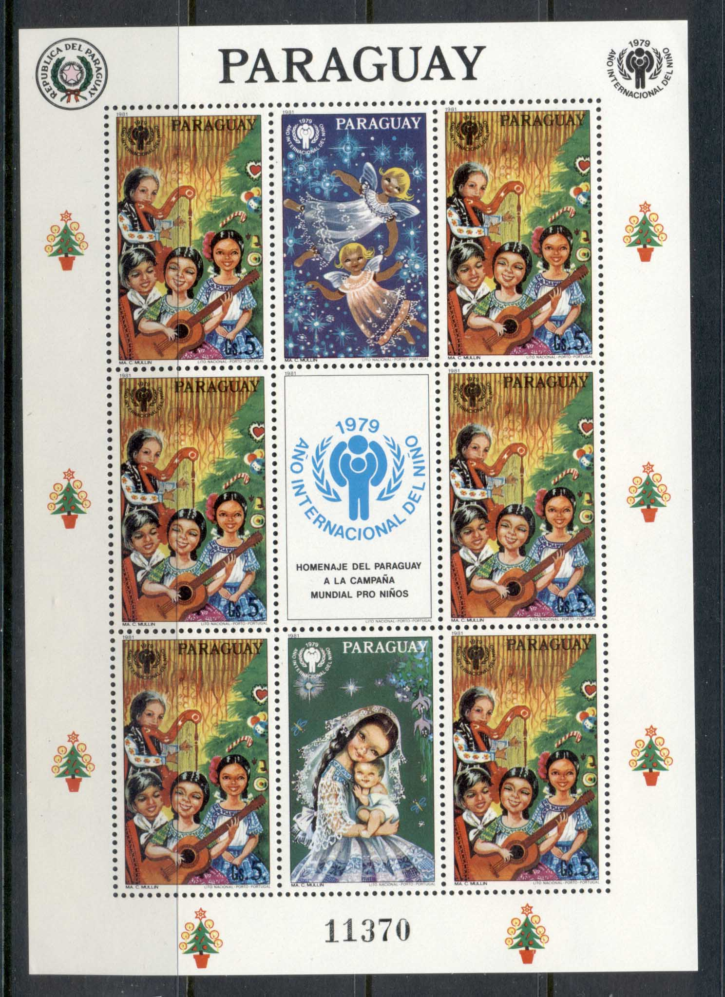 Paraguay 1979 IYC International year of the Child, sheetlet MUH