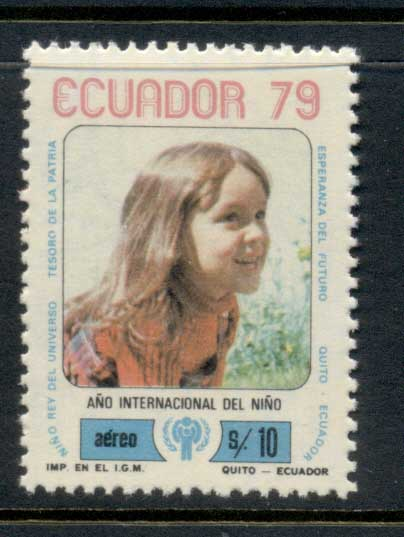 Ecuador 1979 IYC International year of the Child MUH