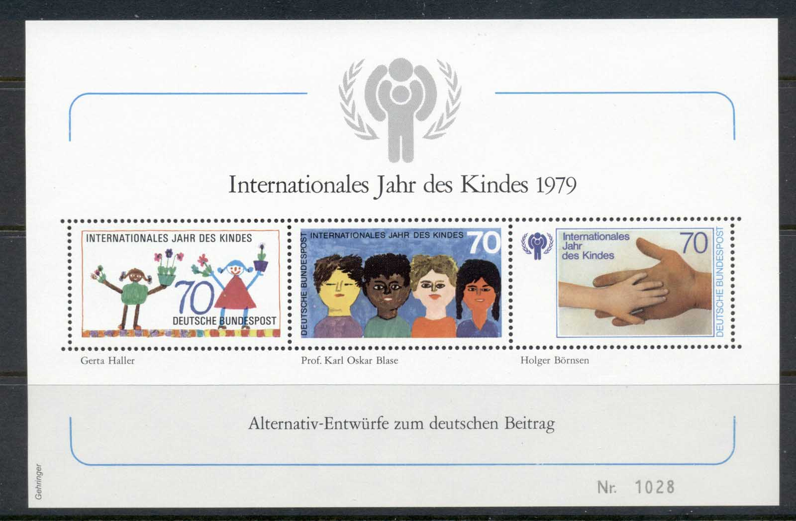 Germany 1979 IYC International year of the Child MS MUH