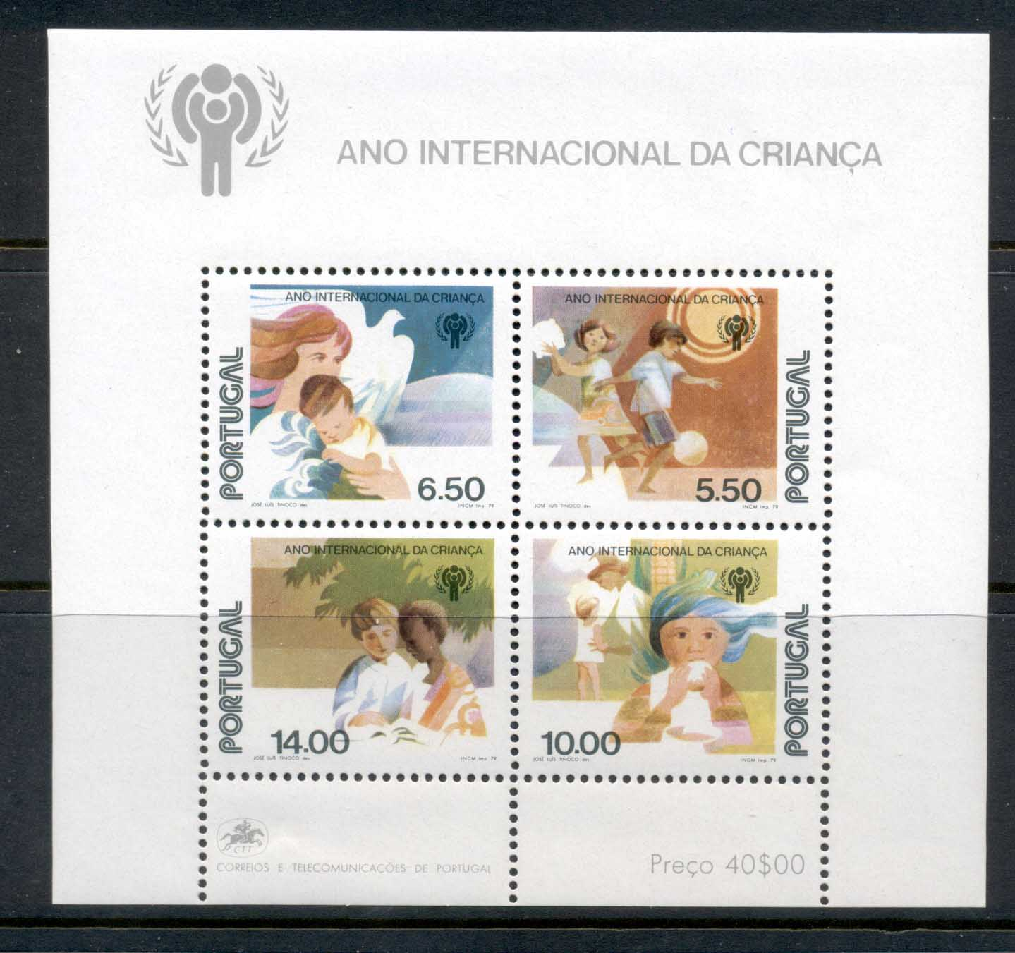 Portugal 1979 IYC International year of the Child MS MUH