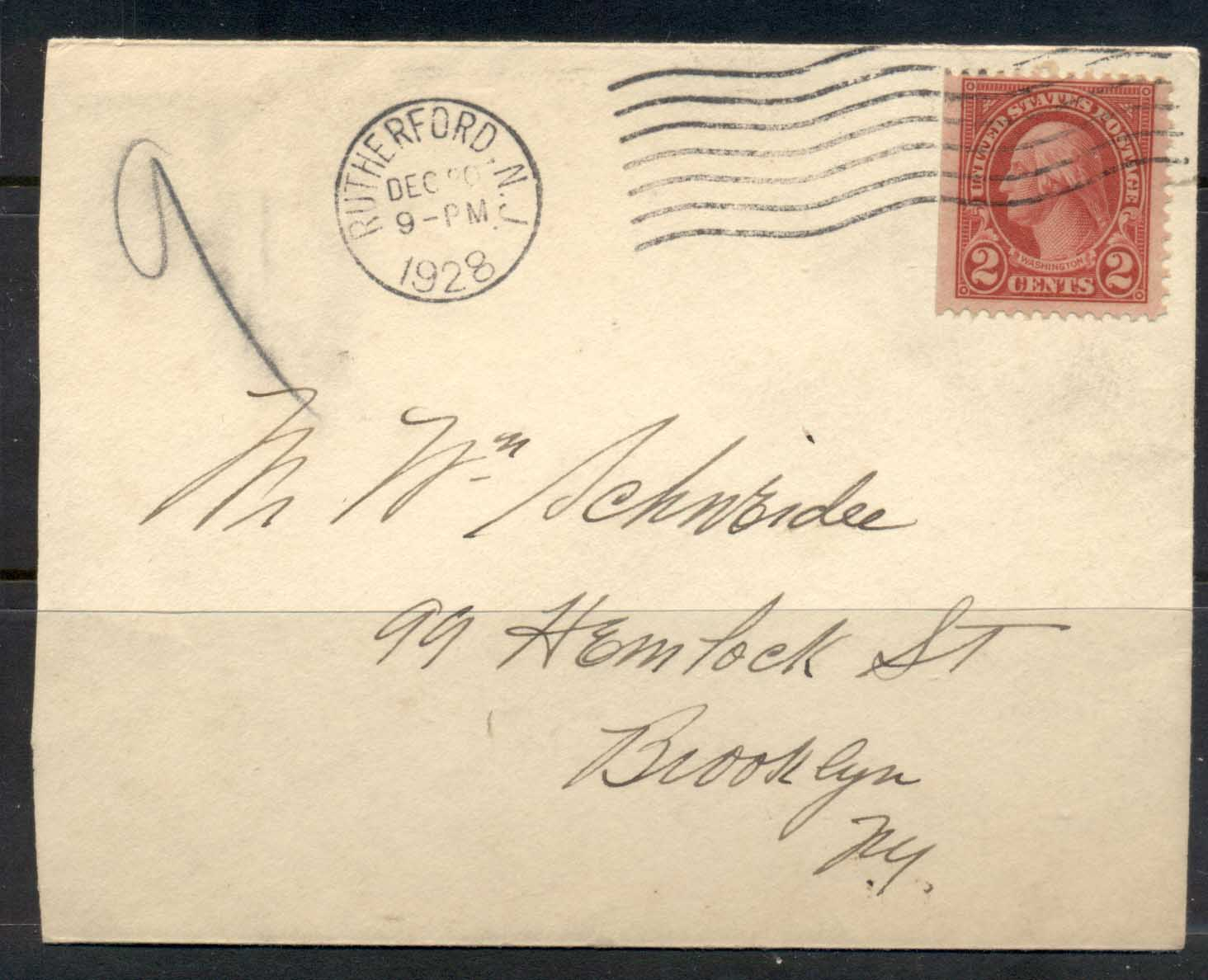 USA 1922-38 Fourth Bureau Washington 2c Rutherford 1928 cover