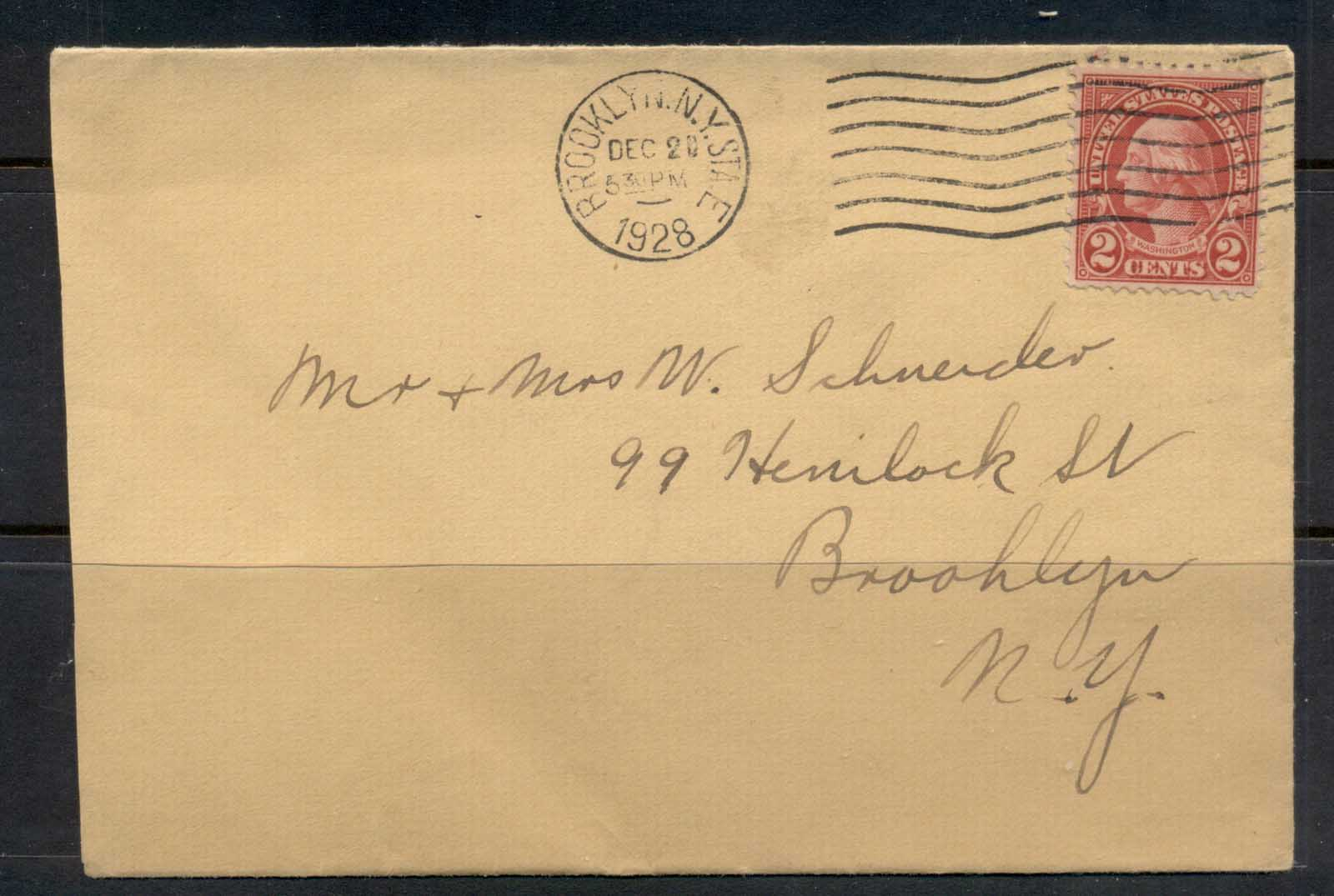 USA 1922-38 Fourth Bureau Washington 2c Brooklyn 1928 cover
