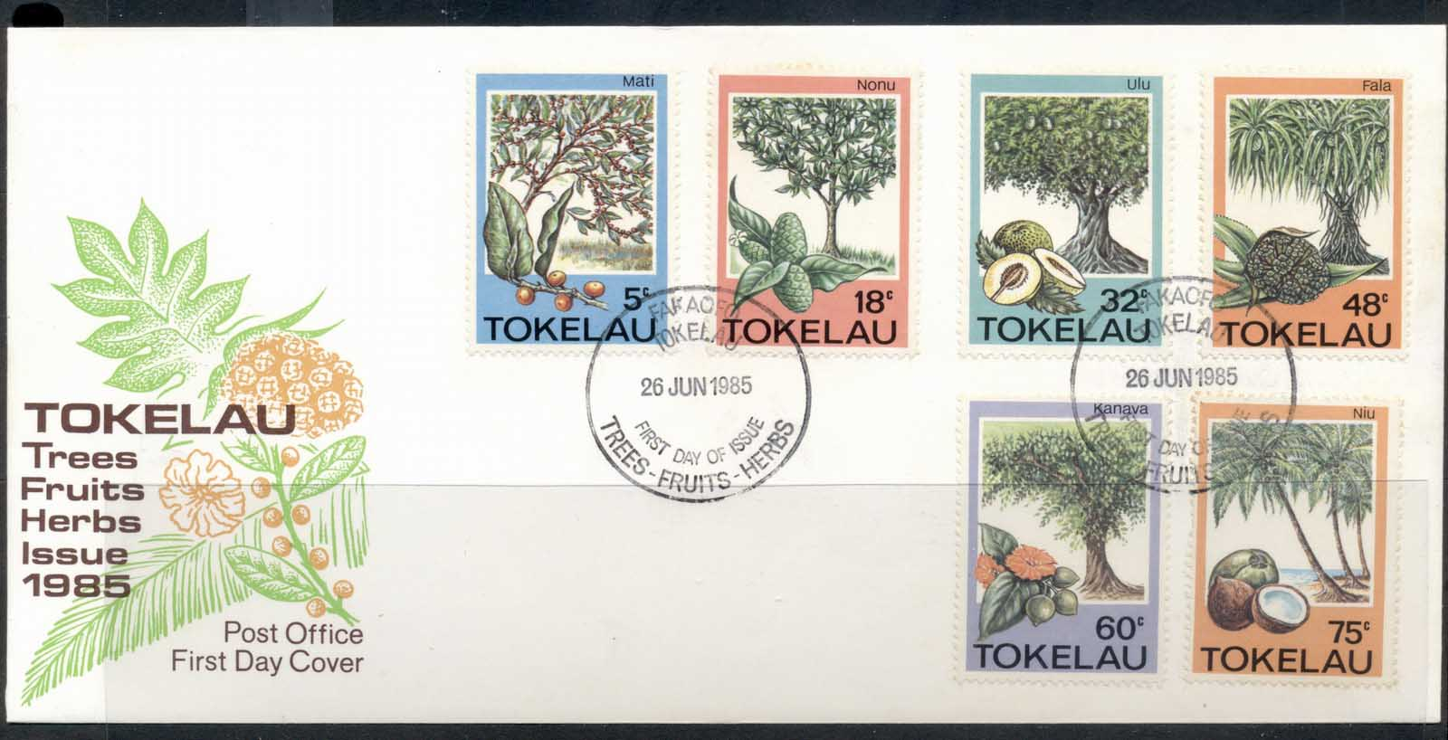 Tokelau 1985 Trees, Fruit, Herbs FDC