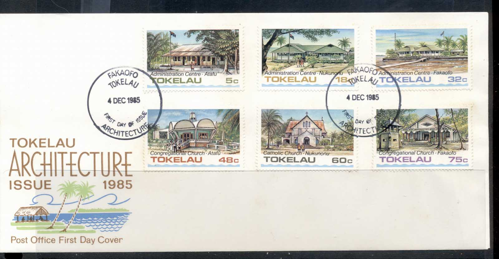 Tokelau 1985 Public Buildings I FDc