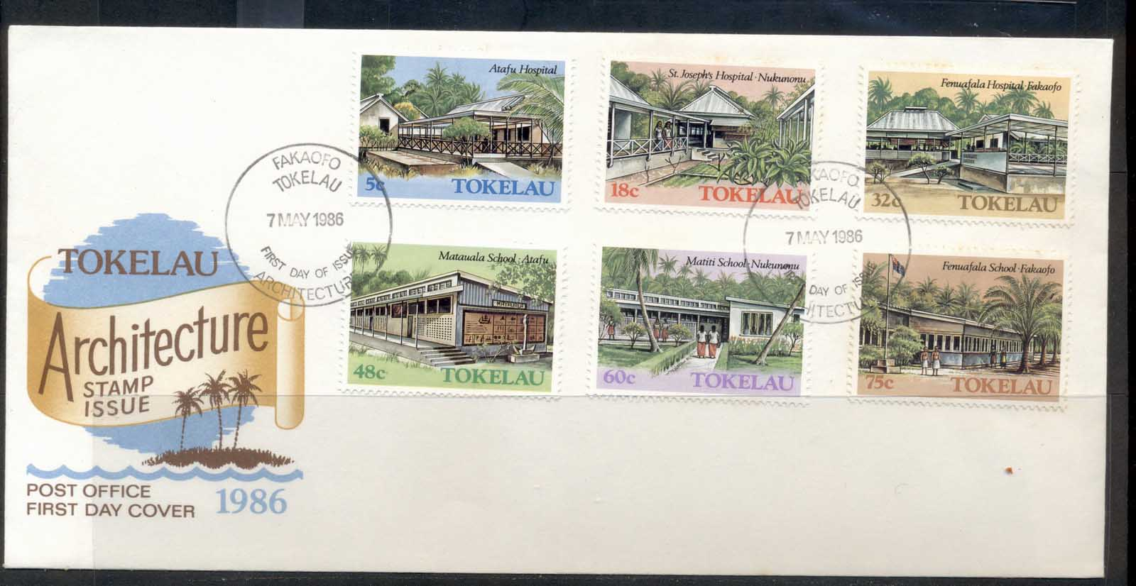 Tokelau 1986 Public Buildings II FDc
