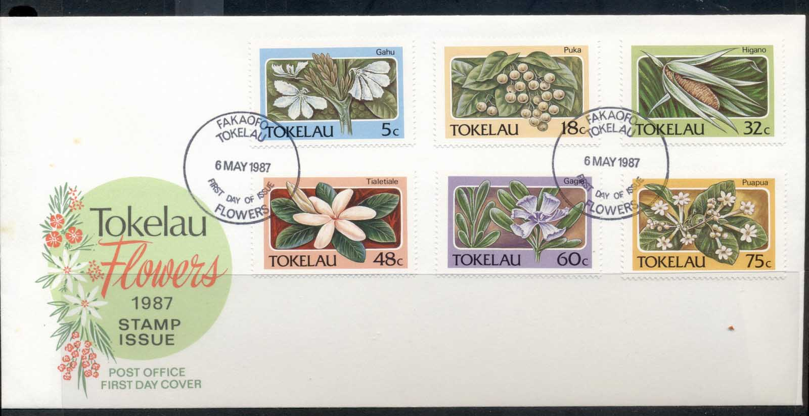 Tokelau 1987 Flowers FDC