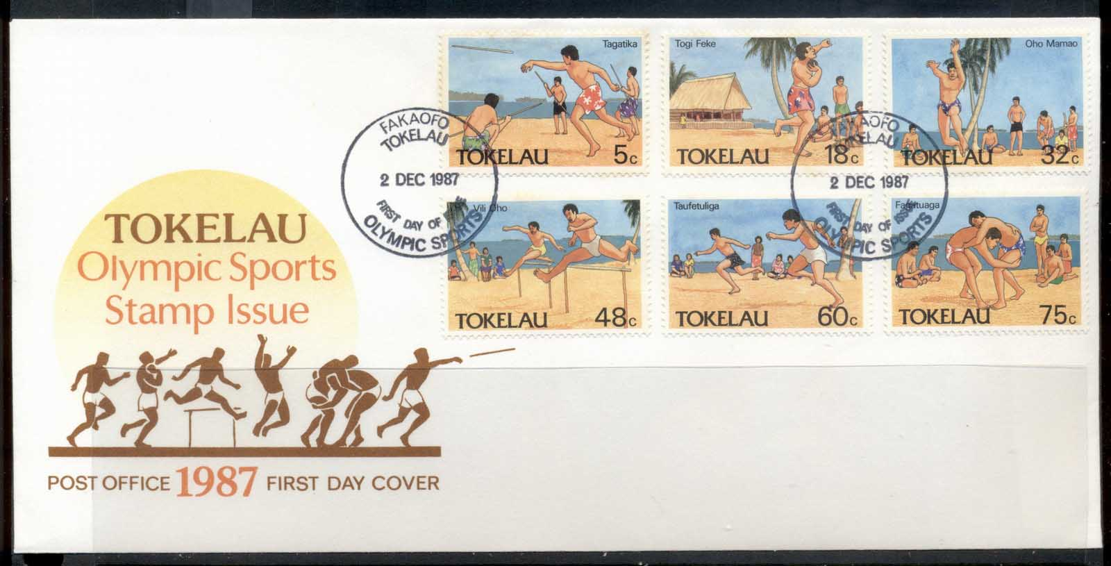 Tokelau 1987 Olympic Sports FDC