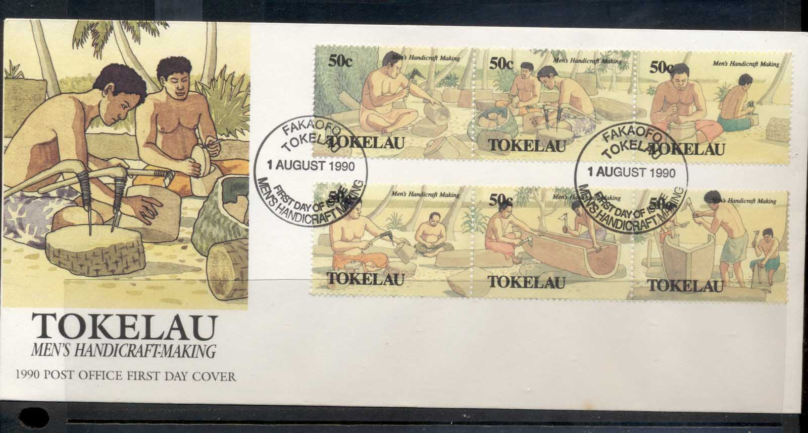 Tokelau 1990 Men's Handicraft Making FDC