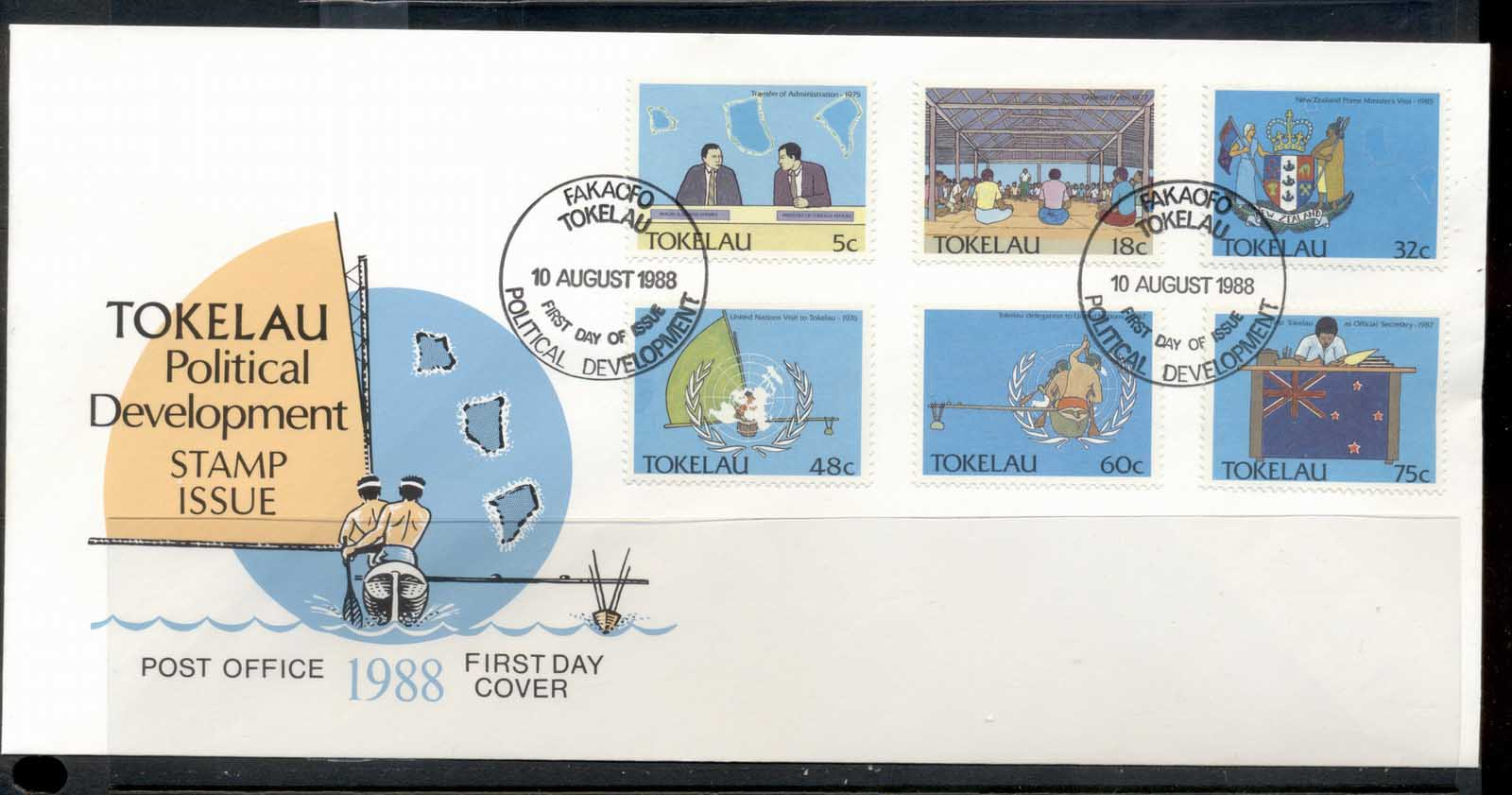 Tokelau 1988 Political Development FDC