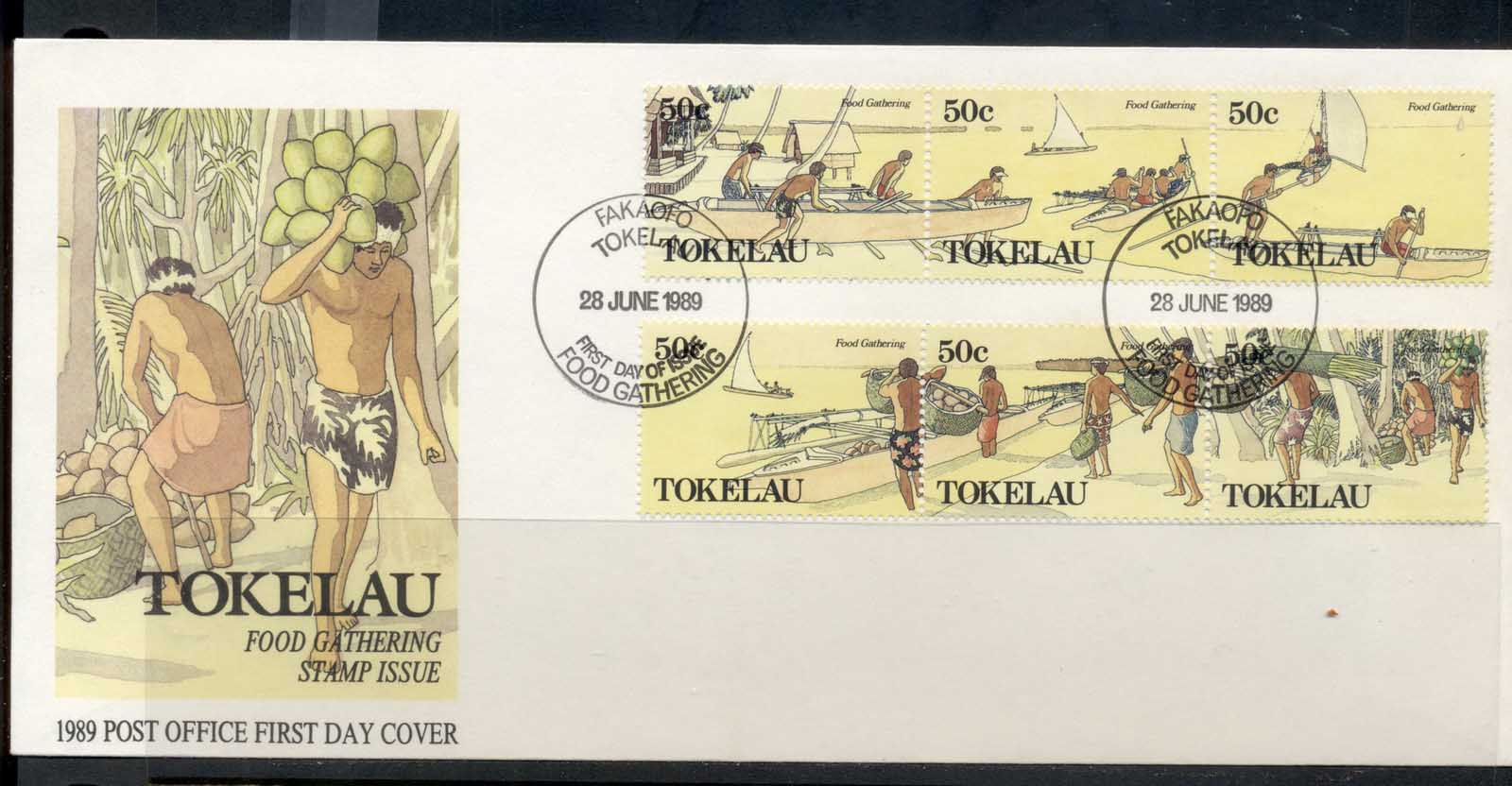 Tokelau 1989 Food Gathering FDC