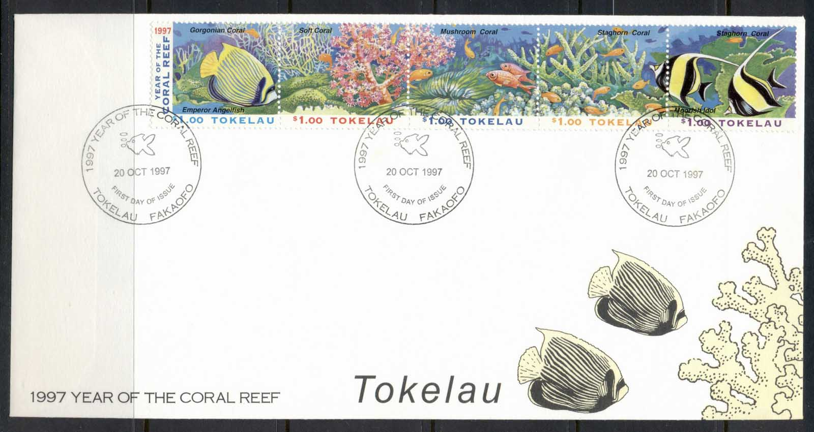 Tokelau 1997 Year of the Coral Reef, Fishes FDC