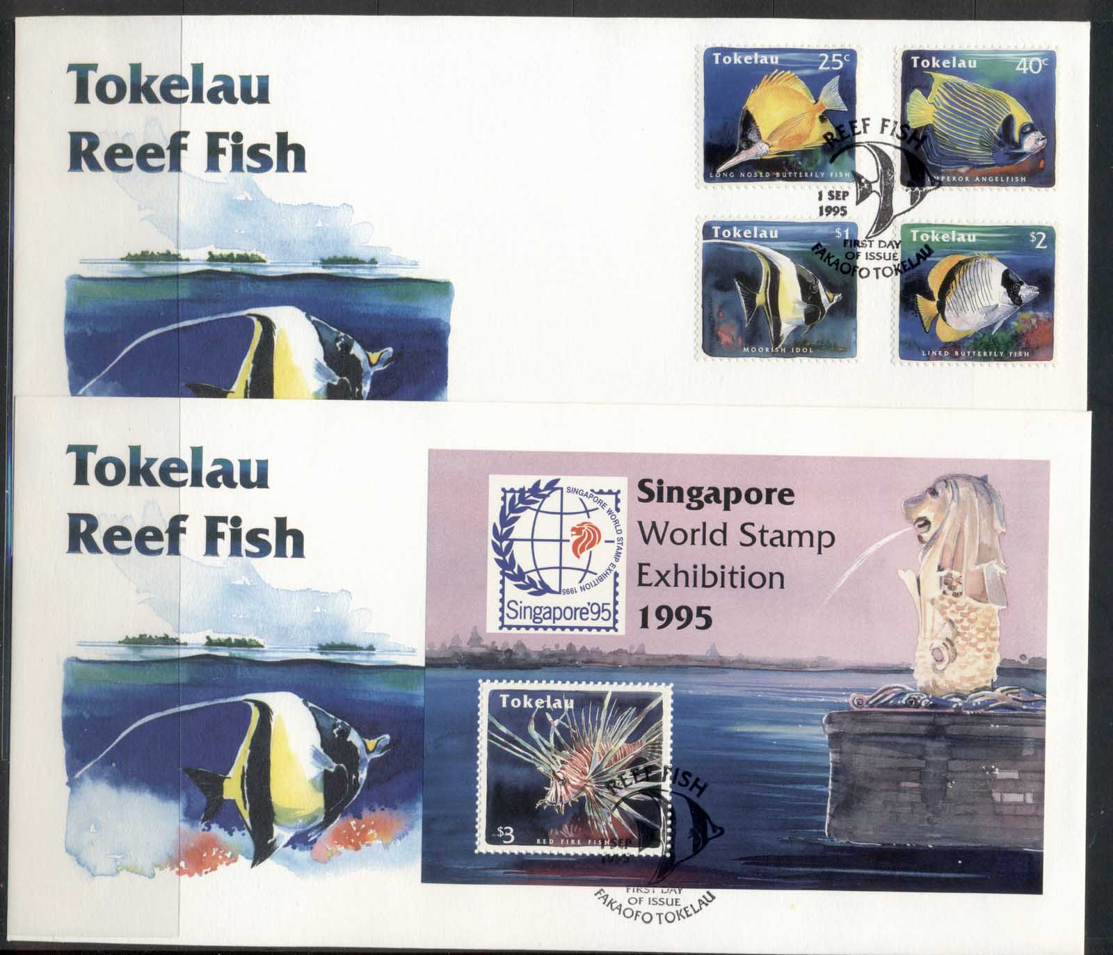 Tokelau 1995 Reef Fish 2x FDC