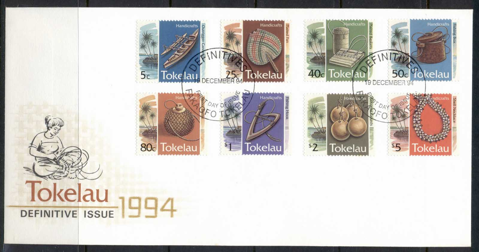 Tokelau 1994 Pictorials Handicrafts FDC