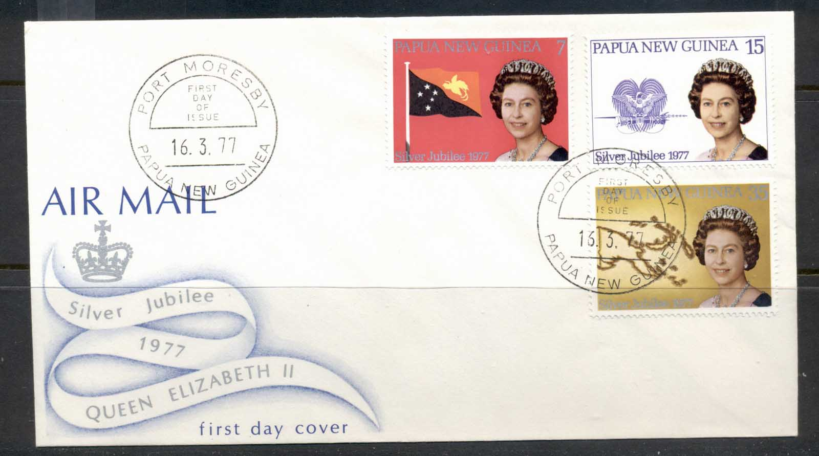PNG 1977 QEII Silver Jubilee FDC