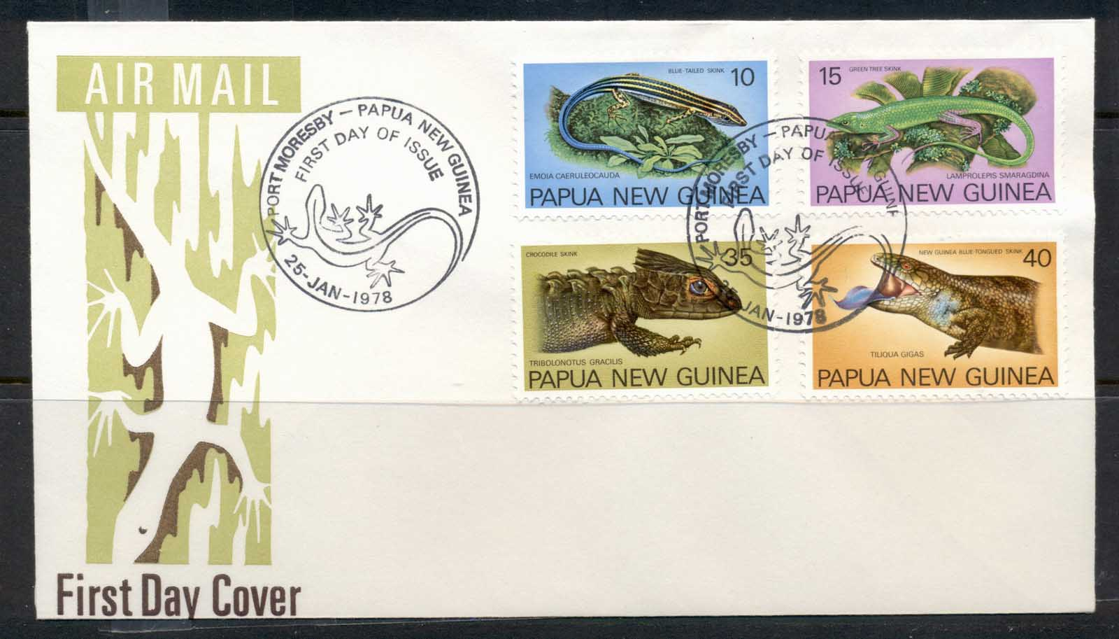PNG 1978 Skinks FDC