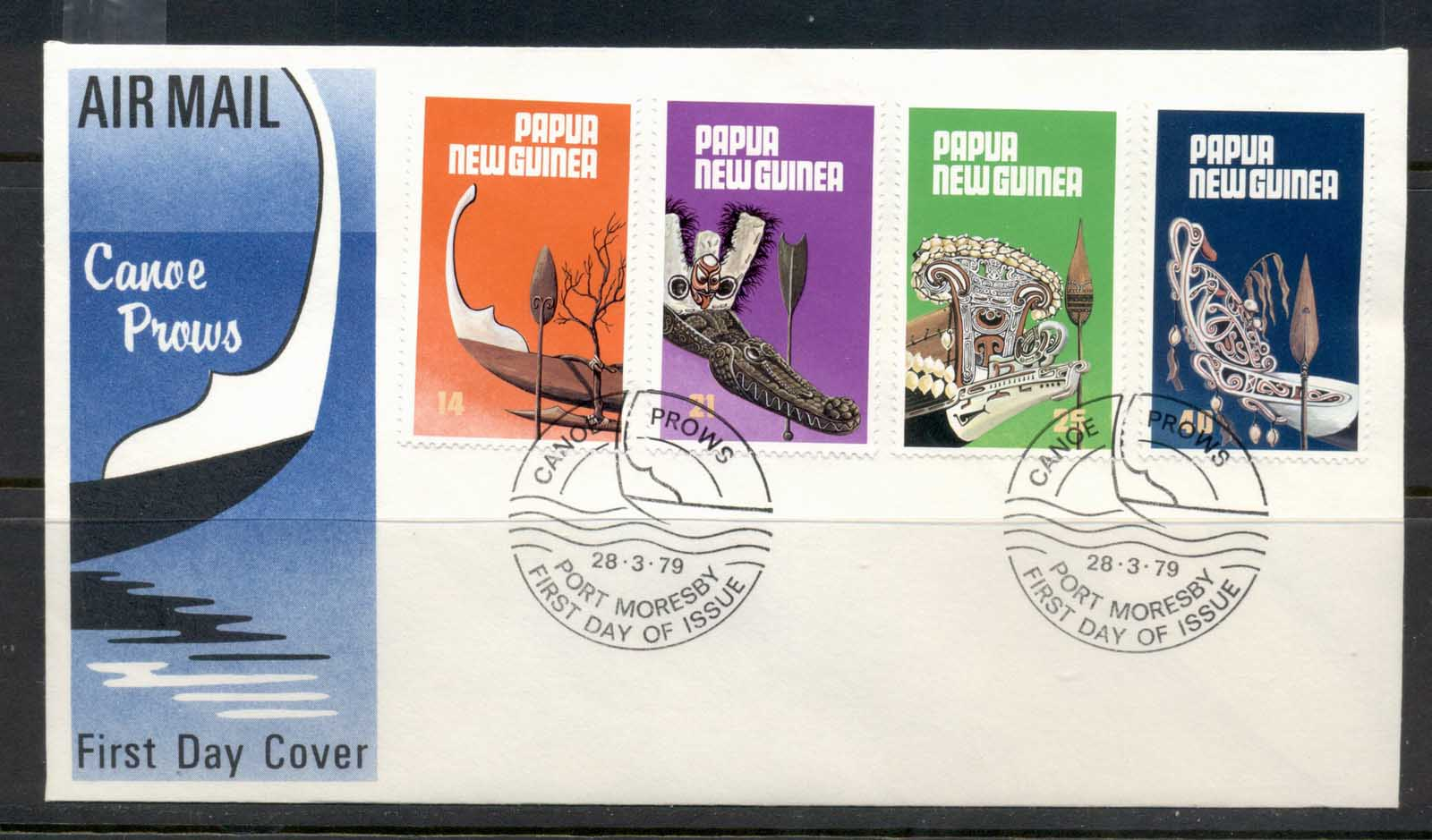 PNG 1979 Canoe Prows FDc