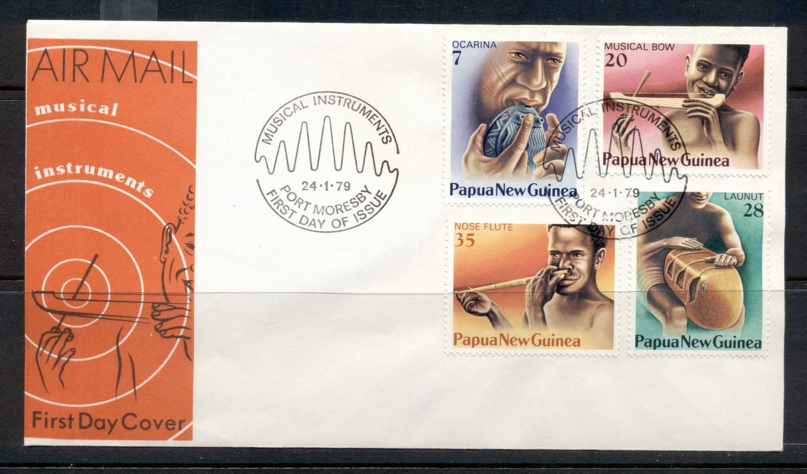 PNG 1979 Musical Instruments FDC