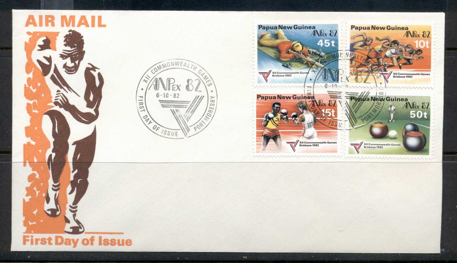 PNG 1982 Commonwealth Games, Anpex FDC