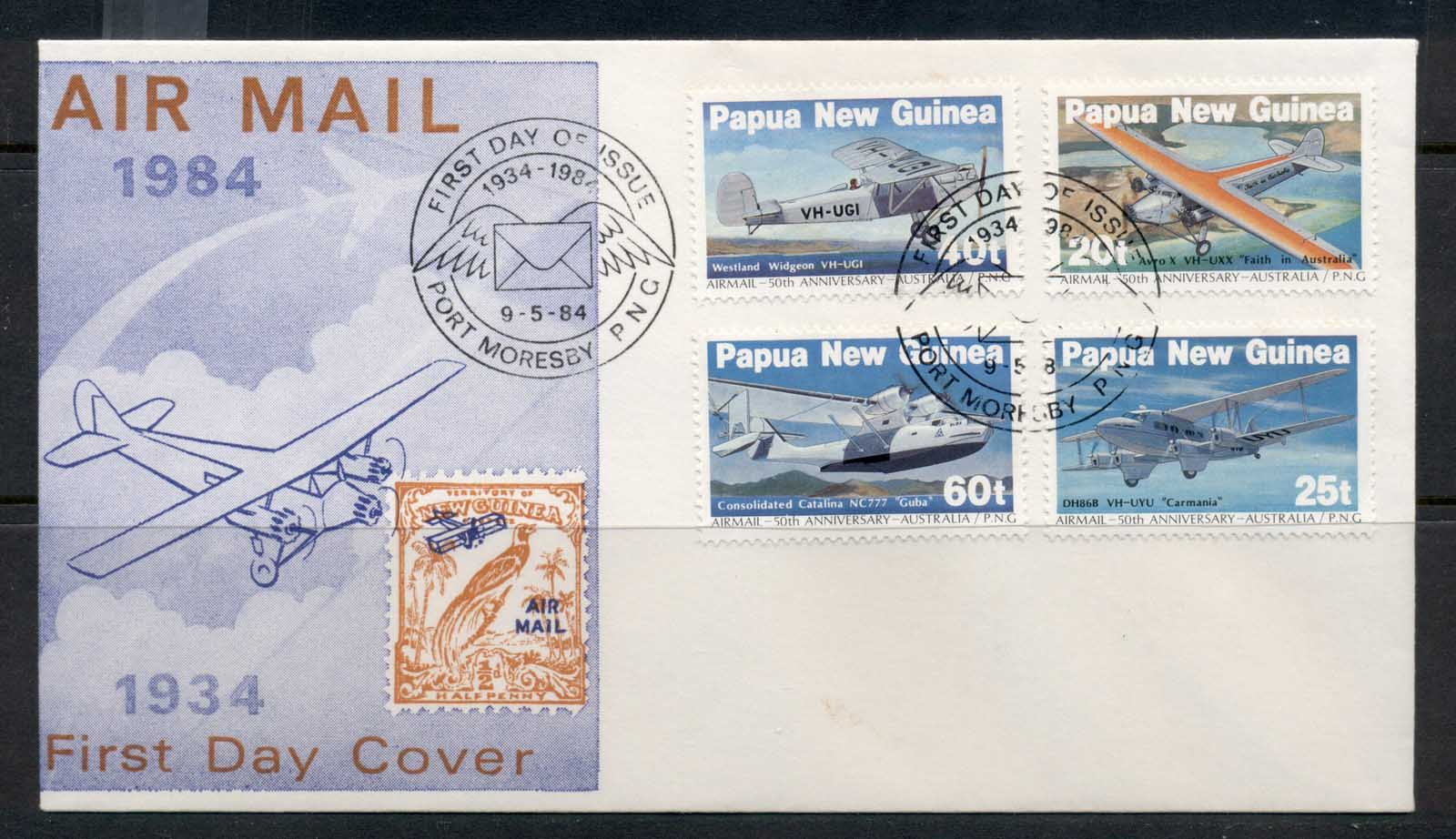 PNG 1984 Airmail FDC