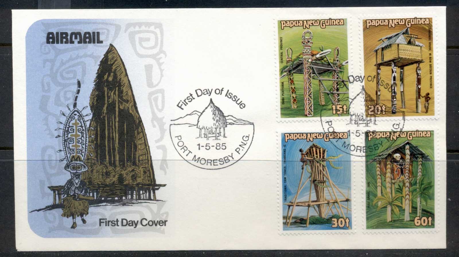 PNG 1985 Ceremonial Structures FDC