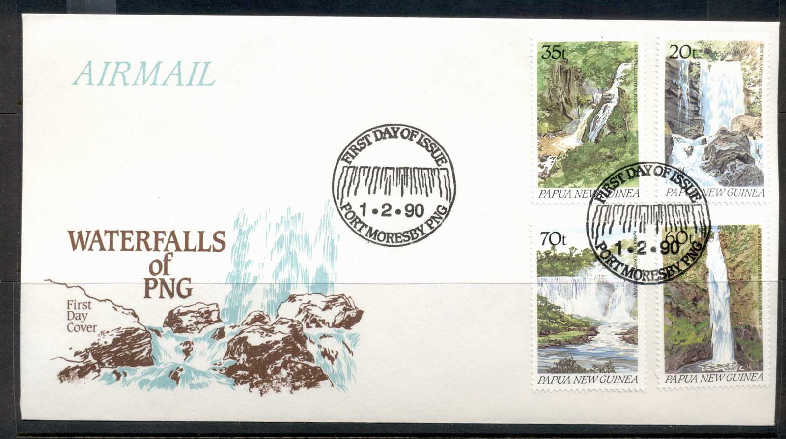 PNG 1990 Waterfalls FDC