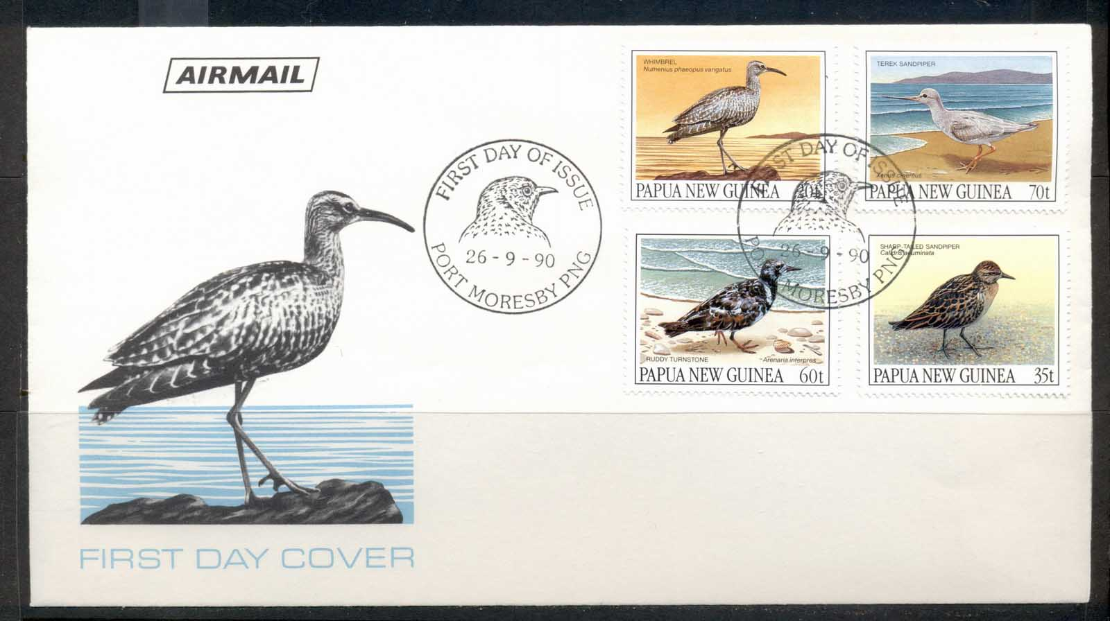 PNG 1990 Birds FDC