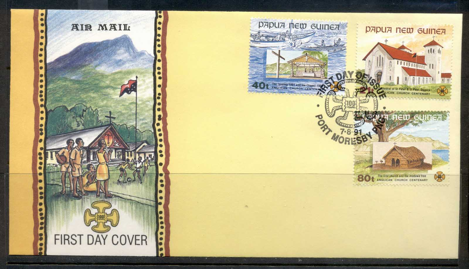 PNG 1991 Churches FDC