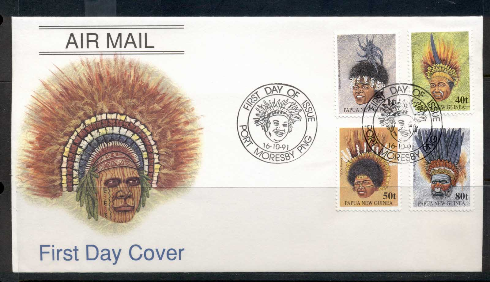 PNG 1991 Headresses FDC