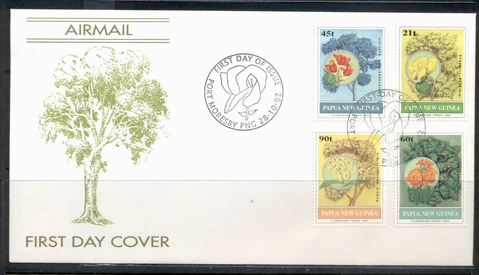 PNG 1992 Flowering Trees FDC