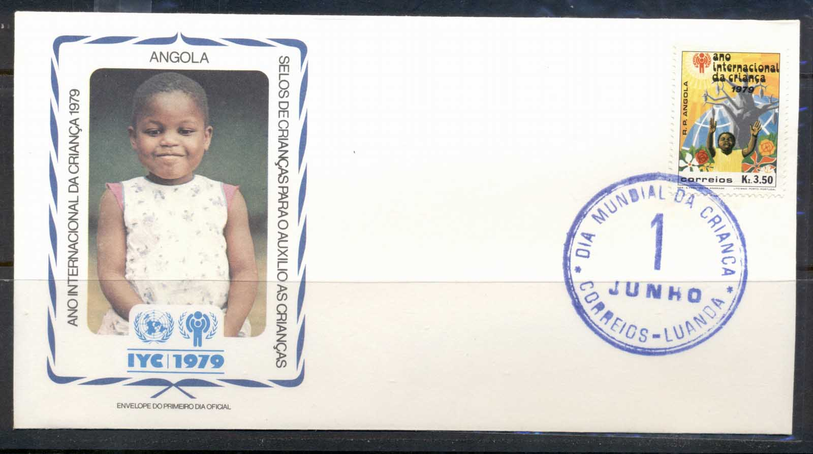 Angola 1979 IYC International year of the Child FDC