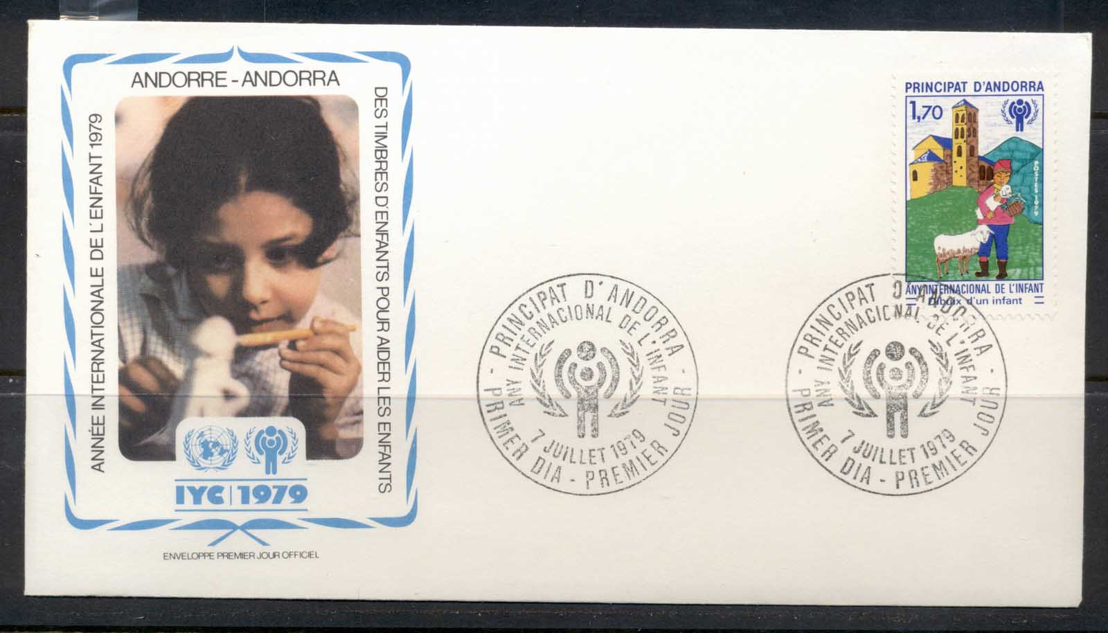 Andorra (Fr.) 1979 IYC International year of the Child FDC